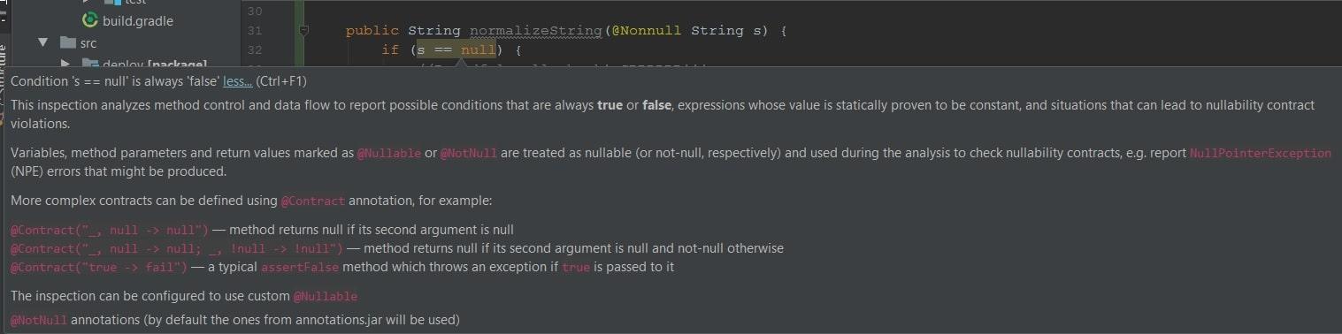 @Nonnull parameter